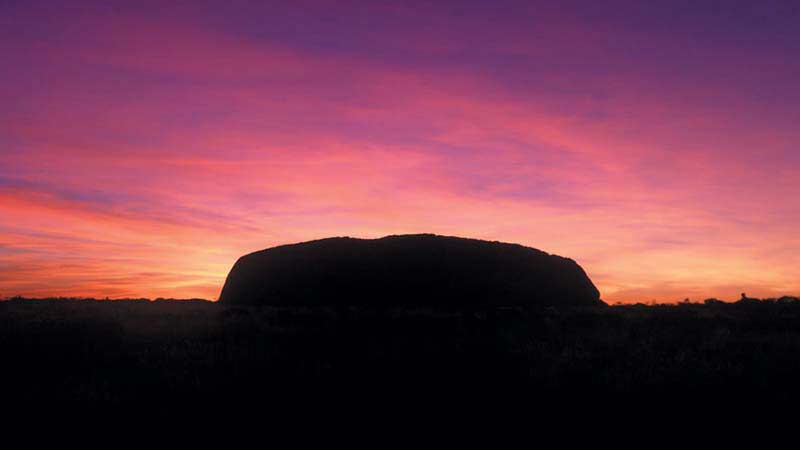 sunset over Uluru