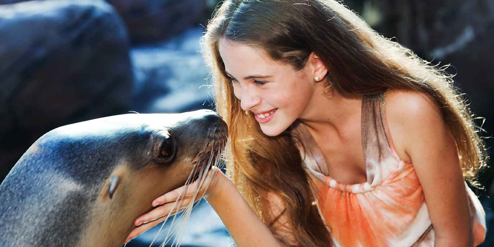 Girl with seal
