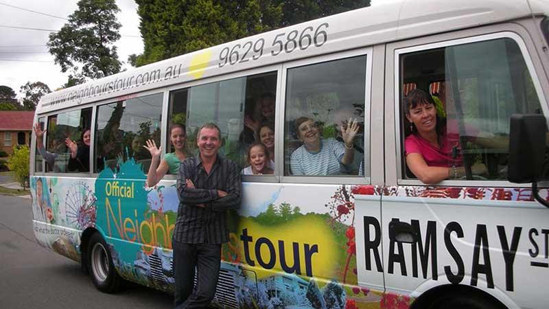 Neighbours tour bus