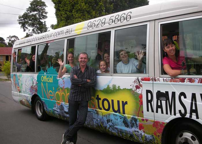 Neighbours Tour bus with Karl Kennedy
