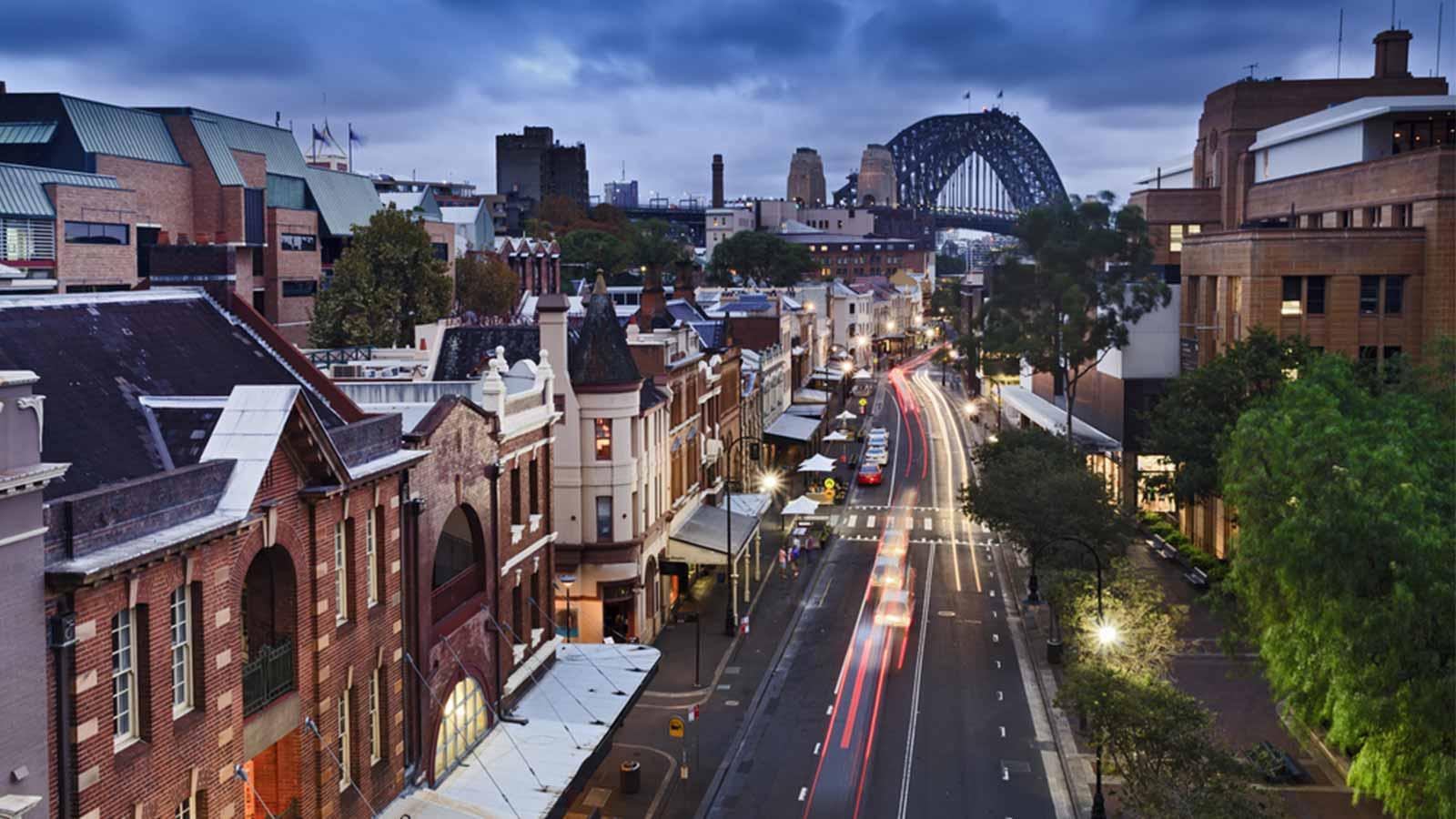 Sydney Street-Harbour Bridge