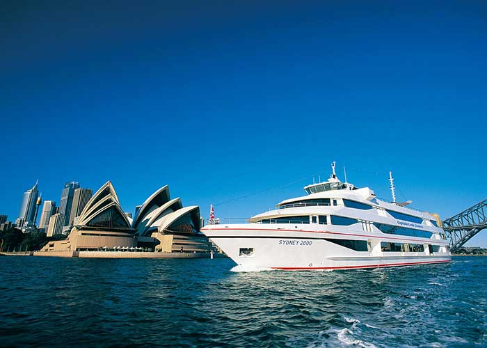 Captain Cook Cruise past the Sydney Opera House