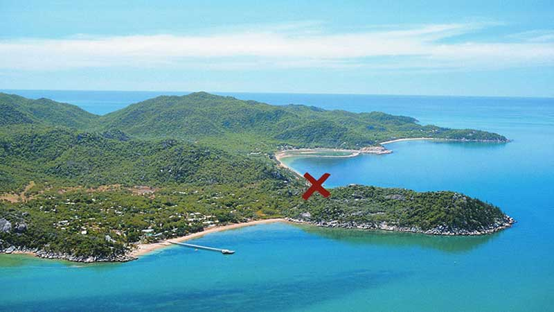 Secluded location on Magnetic Island