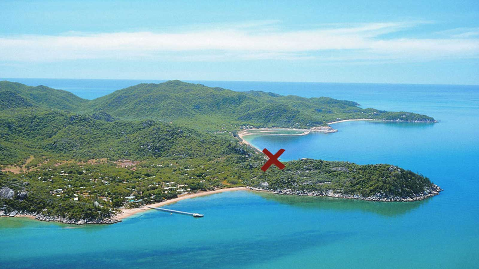 Magnetic Island arial view