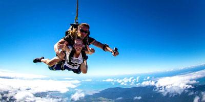 Skydiving selfie
