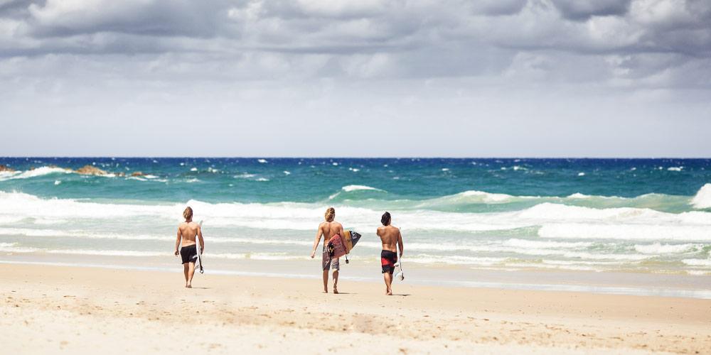 Practice on the beach