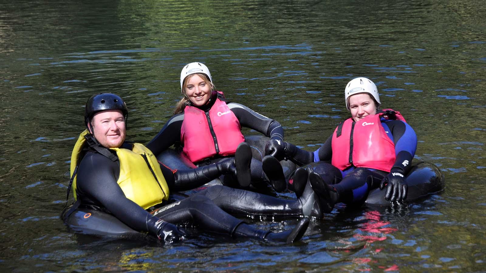 Rafting down Barrington River