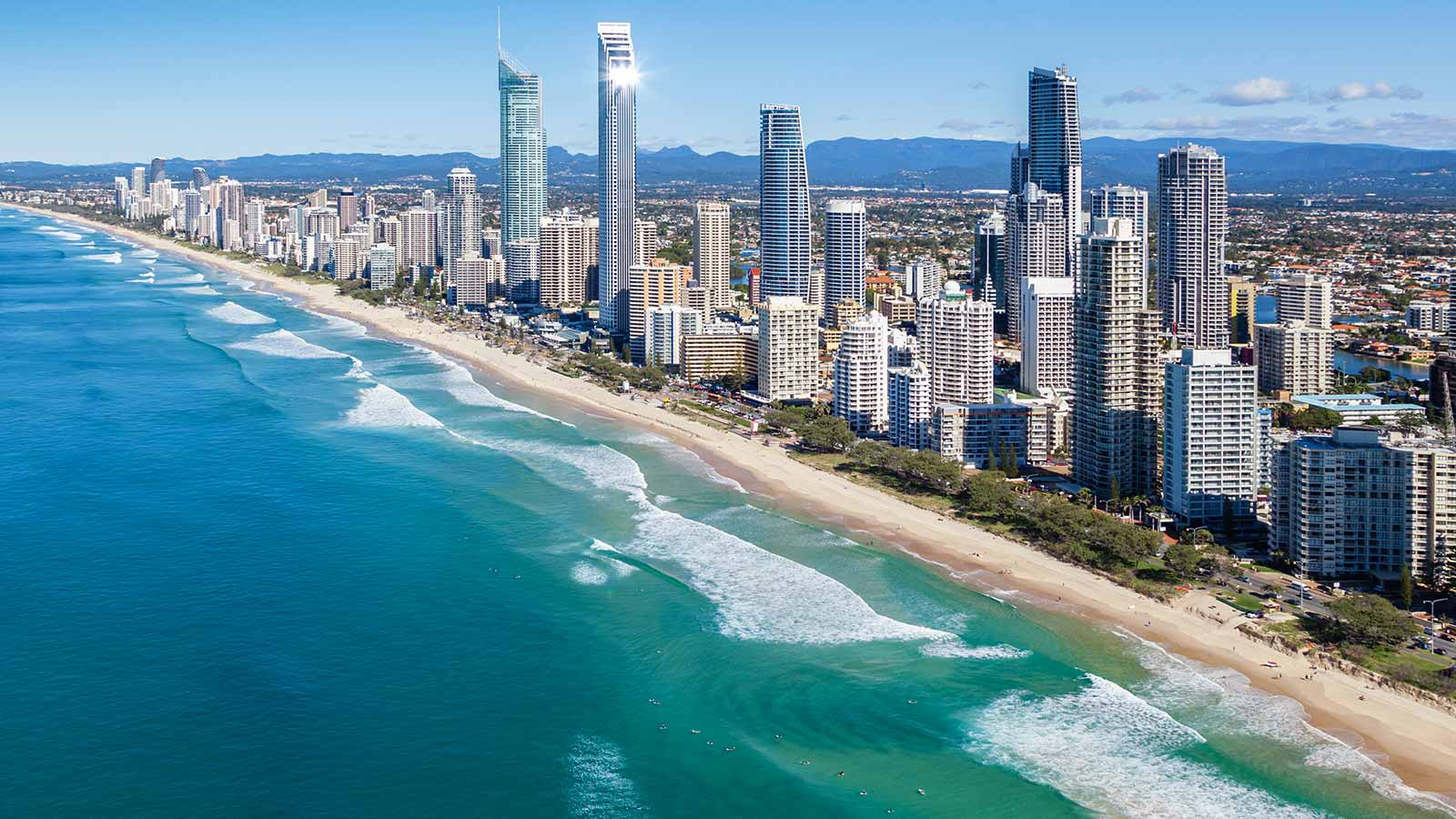 Gold Coast beach and skyline
