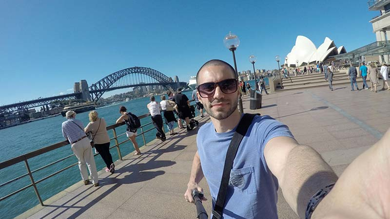 Selfie in front of Sydney icons